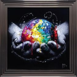 Tableau de Patrice Murciano - We are the World - 84x84 cm