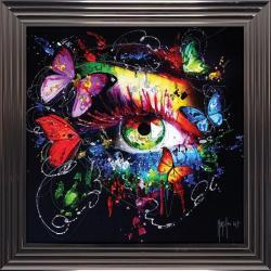 Tableau de Patrice Murciano - Le miroir de l'âme - 84x84 cm