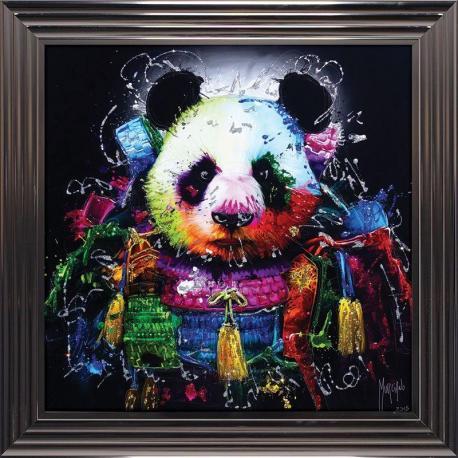 Tableau de Patrice Murciano - Panda samourai - 84x84 cm