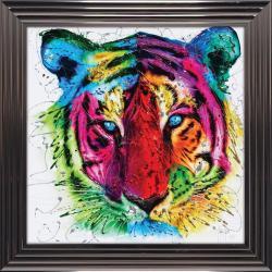 Tableau de Patrice Murciano - Tiger pop - 84 x 84 cm
