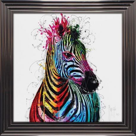 Tableau de Patrice Murciano - Zebra pop - 84x84 cm