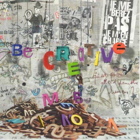 Carte Maïlo - Impressions urbaines : Be creative - 14x14 cm