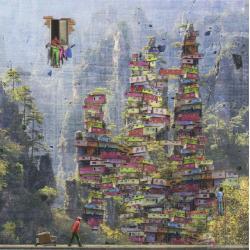 Carte Maïlo - Peintre des montagnes d'Avatar - 14x14 cm