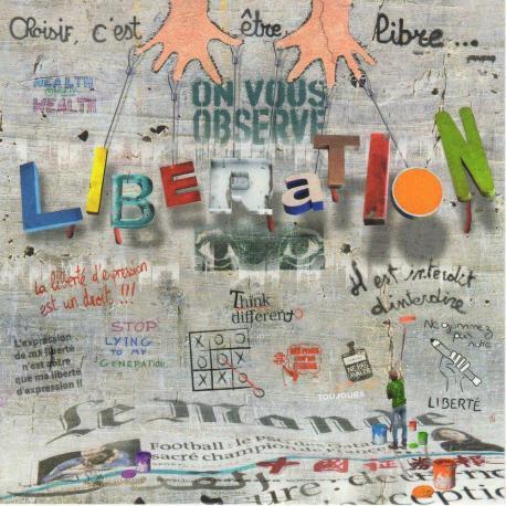 Carte Maïlo - Impressions urbaines : Liberation - 14x14 cm