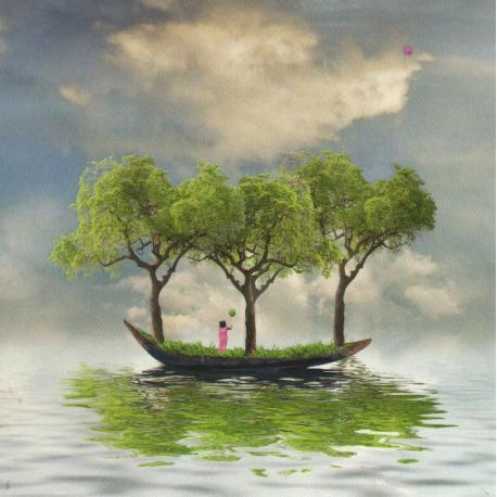 Carte Maïlo - Rêve de nature : l'envol - 14x14 cm