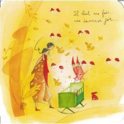 Carte Anne-Sophie Rutsaert - Il était une fois... une immense joie... - 14x14 cm