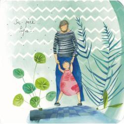 Carte Anne-Sophie Rutsaert - Su-père... Papa... - 14x14 cm