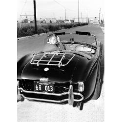 Affiche Bullitt - Steve Mc Queen et sa AC Cobra - Affiche 50x70 cm