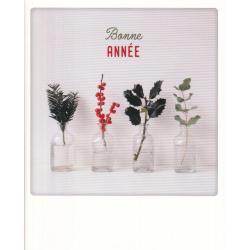 Carte Noël Pickmotion de @Jt_design - Bonne année plante - 10.5x13 cm