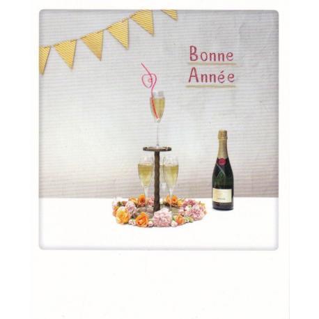 Carte Noël Pickmotion de @Candyperfumeworld - Bonne année - 10.5x13 cm