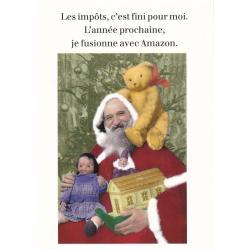 Carte humour Noël de Cath Tate - Les impôts, c'est fini pour moi... - 10.5x15 cm