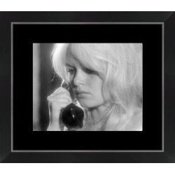 Affiche encadrée Brigitte Bardot - Vie Privée 1962 - 24x30 cm (Cadre Tucson)