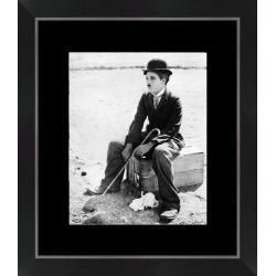 Affiche encadrée Charlie Chaplin - Le cirque 1928 - 24x30 cm (Cadre Tucson)