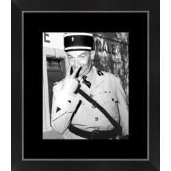 Affiche encadrée Le Gendarme - Funès - 24x30 cm (Cadre Tucson)