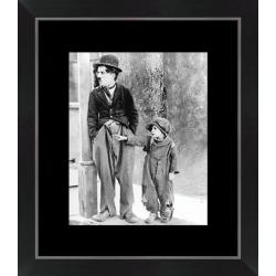Affiche encadrée Le Kid - Chaplin - Dimension 24x30 cm