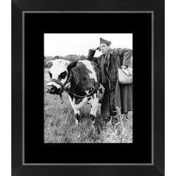 Affiche encadrée La Vache et le Prisonnier - Fernandel - Dimension 24x30 cm