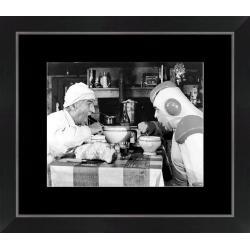 Affiche encadrée La soupe aux choux - De Funès Villeret - Dimension 24x30 cm