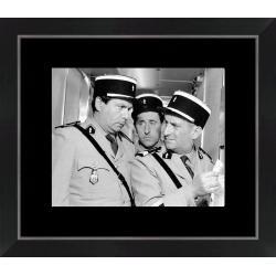 Affiche encadrée Le Gendarme de St Tropez - Funes Galabru Lefebvre - Dimension 24x30 cm