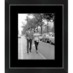 Affiche encadrée A bout de soufle - Belmondo Seberg - Dimension 24x30 cm