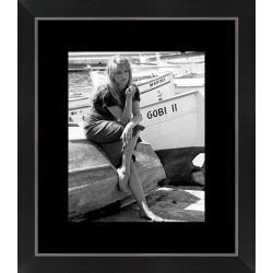 Affiche encadrée Brigitte Bardot - St Tropez - Affiche encadrée 24x30 cm