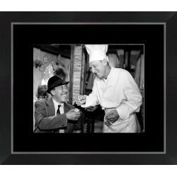 Affiche encadrée La Cuisine au Beurre II - Fernandel Bourvil - Dimension 24x30 cm