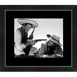Affiche encadrée Clint Eastwood - Le bon, la brute, le Truand - Dimension 24x30 cm