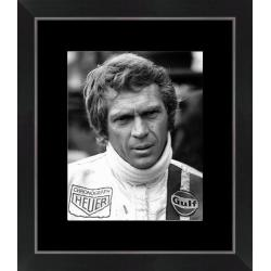 Affiche encadrée Steve Mc Queen - Le Mans - Dimension 24x30 cm