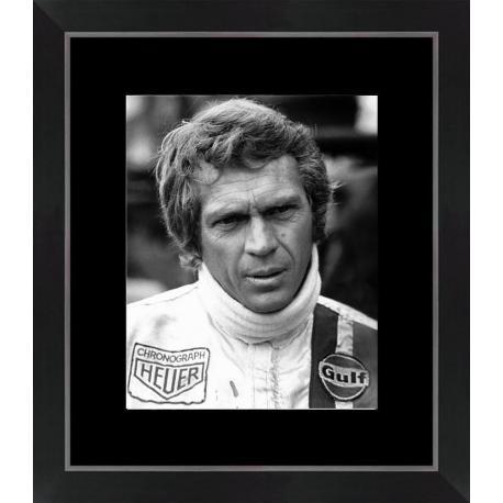 Affiche encadrée Steve Mc Queen - Le Mans - Dimension 24x30 cm