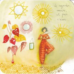 Carte Anne-Sophie Rutsaert -Se regarder, sourire,et puis s'aimer... - 14x14 cm