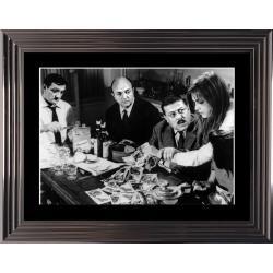 Affiche encadrée Noir et Blanc: Les Tontons Flingueurs - Touche pas au Grisby - 50x70 cm (Cadre Glascow)