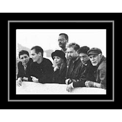 Affiche encadrée Le Grand Bleu - Luc Besson et son équipe - 50x70 cm