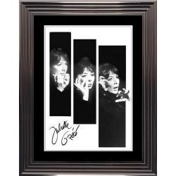 Affiche encadrée Noir et Blanc: Juliette Gréco - 50x70 cm (Cadre Glascow)