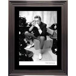 Affiche encadrée Noir et Blanc: Serge Gainsbourg - Studio - 50x70 cm (Cadre Glascow)