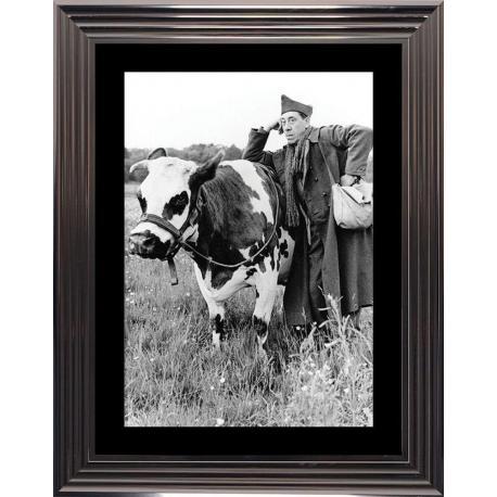 Affiche encadrée La Vache et le prisonnier - Fernandel - 50x70 cm