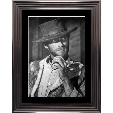 Affiche encadrée Clint Eastwood - Dim: 50x70 cm