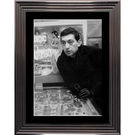 Gainsbourg - Flipper - Affiche encadrée 50x70 cm