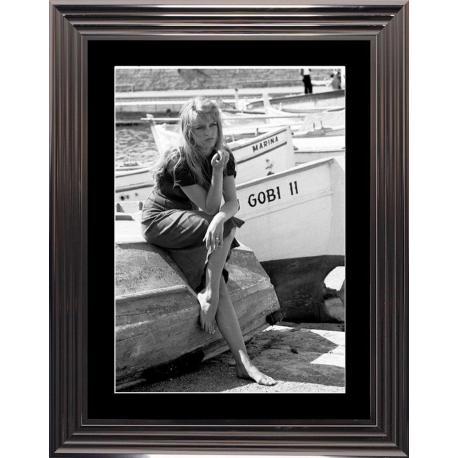 Affiche encadrée St Trop - Bardot - 50x70 cm