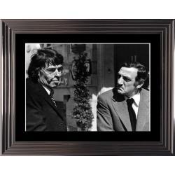 Affiche encadrée Noir et Blanc: L'Emmerdeur - Brel Ventura - 50x70 cm (Cadre Glascow)