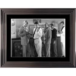 Affiche encadrée Noir et Blanc: 100000 dollars au soleil - Ventura Blier - 50x70 cm (Cadre Glascow)