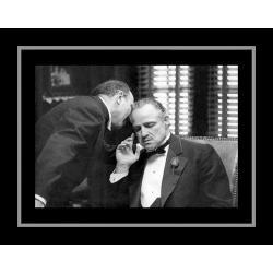 Affiche encadrée Le Parrain - Marlo Brando - 50x70 cm