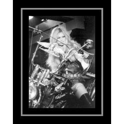 Affiche encadrée Brigitte Bardot - En Harley Davidson - Affiche encadrée 50x70 cm