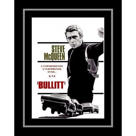 Affiche encadrée Steve Mc Queen - Bullitt - Affiche encadrée 50x70 cm