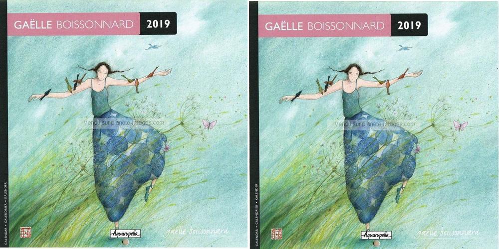 Carte Cora Calendrier 2019.2 Calendriers 2019 Gaelle Boissonnard Dans Le Vent 16x16 Cm 5