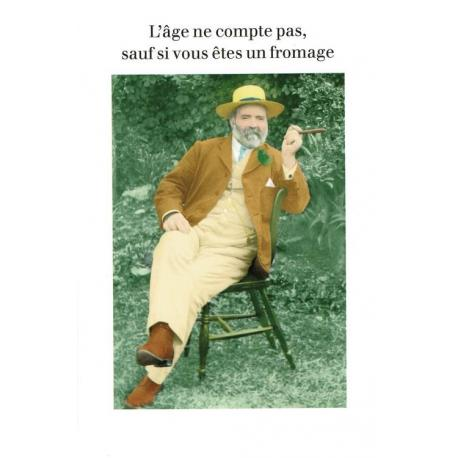 Carte humour de Cath Tate - L'âge ne compte pas... - 21x29.7 cm
