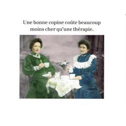 Carte humour de Cath Tate - Une bonne copine... - 21x29.7 cm