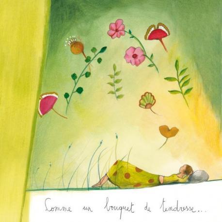 """Carte Anne-Sophie Rutsaert """"Comme un bouquet de tendresse…"""" 14x14 cm"""