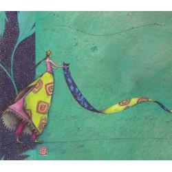 Carte Gaëlle Boissonnard 2019 -La danse du tapis - 14x16 cm. Réf: 15547