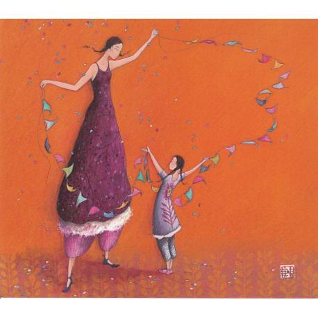 Carte Gaëlle Boissonnard 2019 - La guirlande multicolore - 14x16 cm