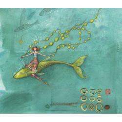Carte Gaëlle Boissonnard 2019 - Plongée sous-marine - 14x16 cm. Réf: 15549