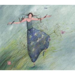 Carte Gaëlle Boissonnard 2019 - Danse avec le vent - 14x16 cm. Réf: 15550